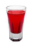 Bebida roja del alcohol del cóctel en el vidrio elegante aislado imagen de archivo libre de regalías