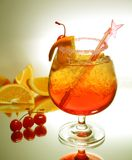 Bebida roja fresca Imágenes de archivo libres de regalías
