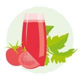 Bebida saudável da desintoxicação do tomate Fotografia de Stock