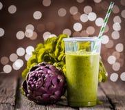 Bebida saudável da dieta do batido do vegetariano foto de stock royalty free
