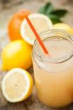 Bebida saudável feita do limão, da canela, do gengibre e do mel Imagem de Stock Royalty Free