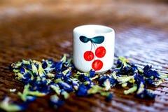 Bebida saudável, vidro do chá verde Imagem de Stock