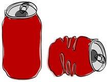 A bebida sem álcool pode Imagens de Stock Royalty Free