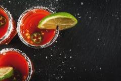 Bebida tradicional mexicana Sangrita fotografia de stock