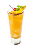 Bebida tropical aislada en el fondo blanco Foto de archivo