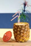 Bebida tropical de la piña Imagen de archivo libre de regalías