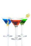 Bebida tropical de três cocktail de Martini Imagem de Stock Royalty Free