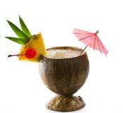 Bebida tropical do coco Foto de Stock