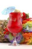 Bebida tropical roja Fotos de archivo libres de regalías