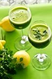 Bebida vegetal del perejil foto de archivo libre de regalías