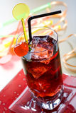 Bebida vermelha foto de stock