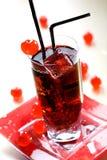 Bebida vermelha fotografia de stock