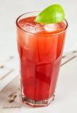 Bebida vermelha com airela e pamplumossa Fotos de Stock