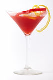 Bebida vermelha do cocktail com limão e paprika Foto de Stock Royalty Free