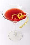 Bebida vermelha do cocktail com limão e paprika Imagem de Stock Royalty Free