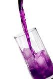 Bebida violeta del hielo Fotografía de archivo libre de regalías
