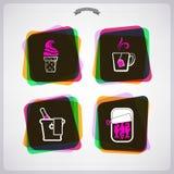 Bebida y alimento Imagen de archivo libre de regalías