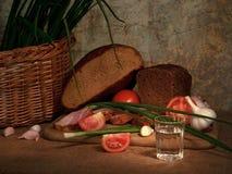 Bebida y comida Imagen de archivo libre de regalías