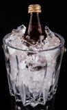 Bebida y cubo de hielo en botella II Imagen de archivo