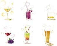 Bebidas ilustração do vetor