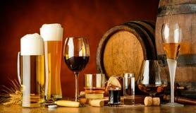 Bebidas alcoólicas Foto de Stock Royalty Free