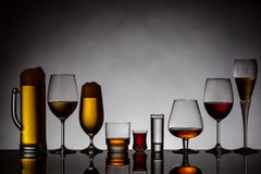 Bebidas alcohólicas fotos de archivo libres de regalías