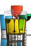 Bebidas alcohólicas coloridas Fotos de archivo libres de regalías