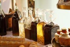 Bebidas alcohólicas en botellas Imagen de archivo libre de regalías