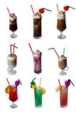 Bebidas Assorted - isoladas Imagens de Stock Royalty Free