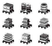 Bebidas carbónicas y alcohólicas ilustración del vector