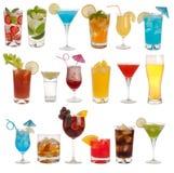 Bebidas, coctails y cerveza Fotografía de archivo libre de regalías