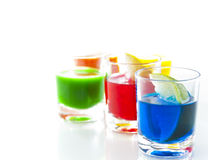 Bebidas coloreadas Fotos de archivo