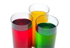 Bebidas coloreadas Fotos de archivo libres de regalías