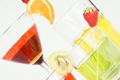 Bebidas coloreadas del aperitivo Foto de archivo