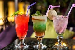 Bebidas coloridas Foto de Stock Royalty Free