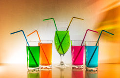 Bebidas coloridas Imagens de Stock