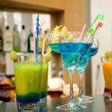 Bebidas coloridas Imagen de archivo libre de regalías