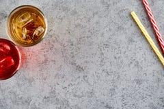 Bebidas coloridas en vidrios Fotografía de archivo