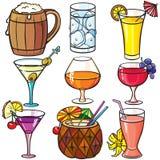 Bebidas, conjunto del icono de los cocteles