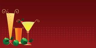 Bebidas da festa de Natal Imagem de Stock