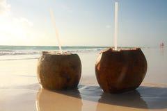 Bebidas da praia Foto de Stock Royalty Free