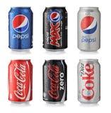 Bebidas da soda Fotografia de Stock