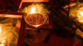 Bebidas de cristal del partido de la celebración del Año Nuevo de Champán Imagen de archivo