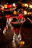 Bebidas de Halloween - cocktail do sangue do diabo imagens de stock