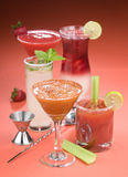 Bebidas de la barra Imágenes de archivo libres de regalías