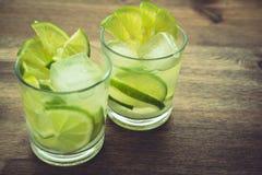 Bebidas de la cal en estudio Fotos de archivo libres de regalías
