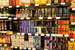 Bebidas de la energía Imágenes de archivo libres de regalías