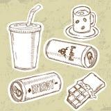Bebidas de la energía fijadas libre illustration