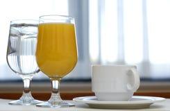 Bebidas de la mañana Fotografía de archivo libre de regalías