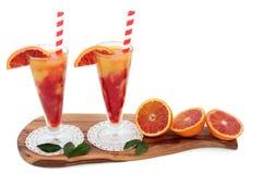 Bebidas de la naranja de sangre Imágenes de archivo libres de regalías